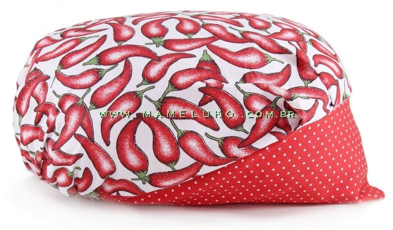 1af81ce2a4973 Touca Elástica Profissional Pimenta - Branca com Aba Vermelha