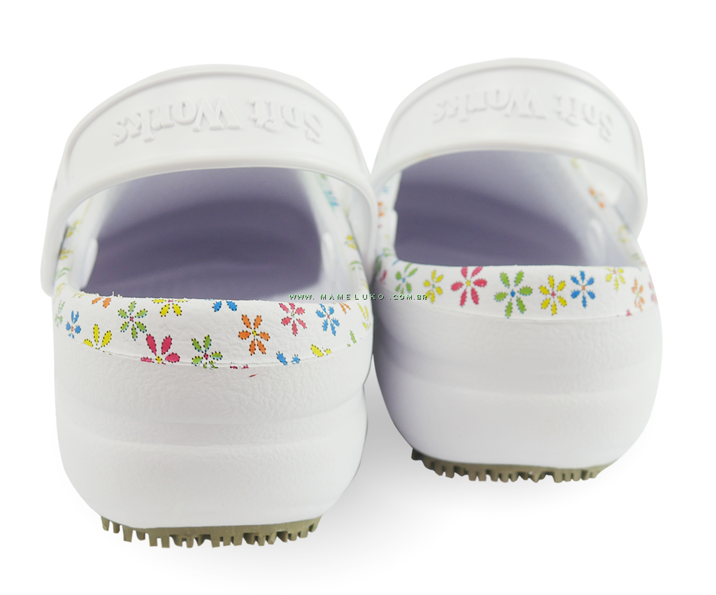 8581d5826 ... Babuche Profissional Soft Works Estampado - Branco com Flores ...