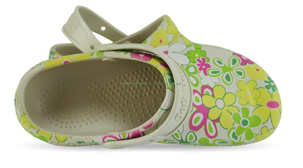 2aba3807f ... Babuche Profissional Soft Works Estampado Flor Verde - Bege ...
