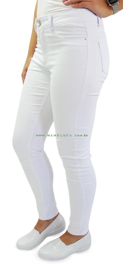 9c5b36c86b ... Calça Jeans Feminina Sawary Cigarrete Hot Pants - Branca ...