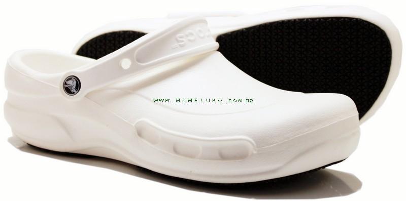 3ee36c485 Babuche Crocs Bistro - Branco por R$169,90 na Mameluko