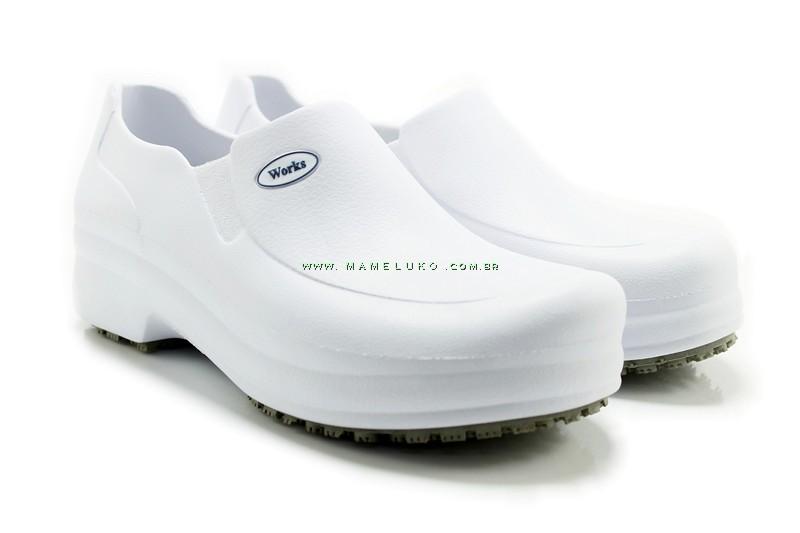 2814db061c1 Sapato Profissional Works II - Bra Branco na Mameluko