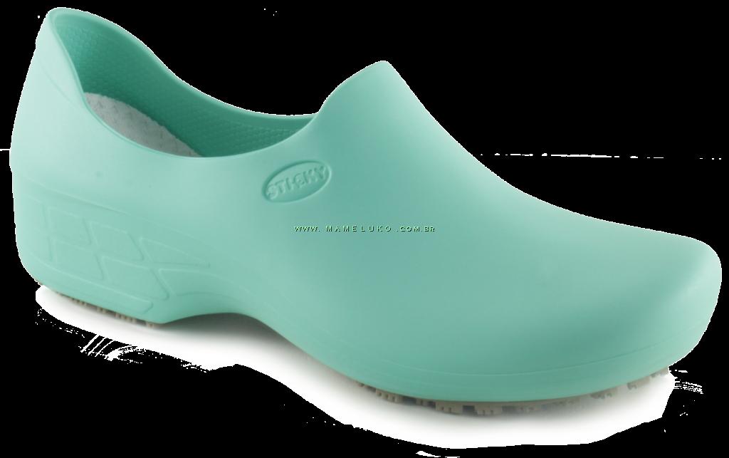 e2e76e0ea8051 ... Sticky Shoe Woman Antiderrapante - Verde Hospitalar ...