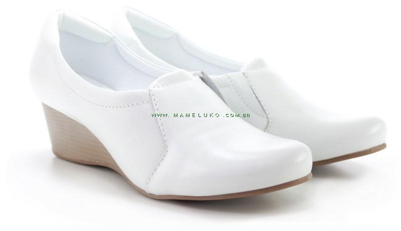 a1a8b98f2 Sapato Neftali 4164 salto Anabela - Branco por R$179,90