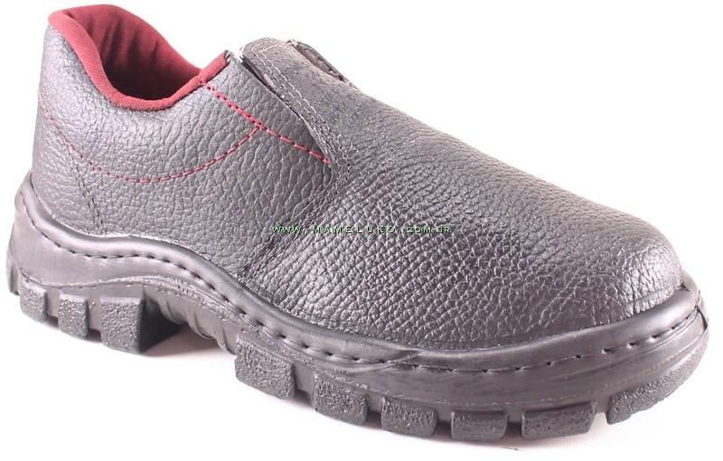 396dedf2c2ff5 Sapato EPI Elástico em Couro com Preto na Mameluko
