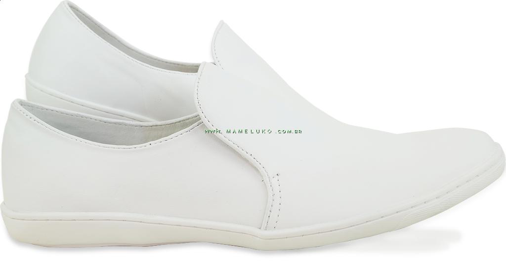 06ba5e44d9 Sapato Masculino em Couro 7008 - Branco por R 164