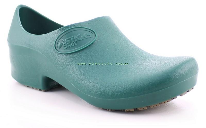 fe3e49cec Sapato Antiderrapante Sticky Shoe Verde na Mameluko