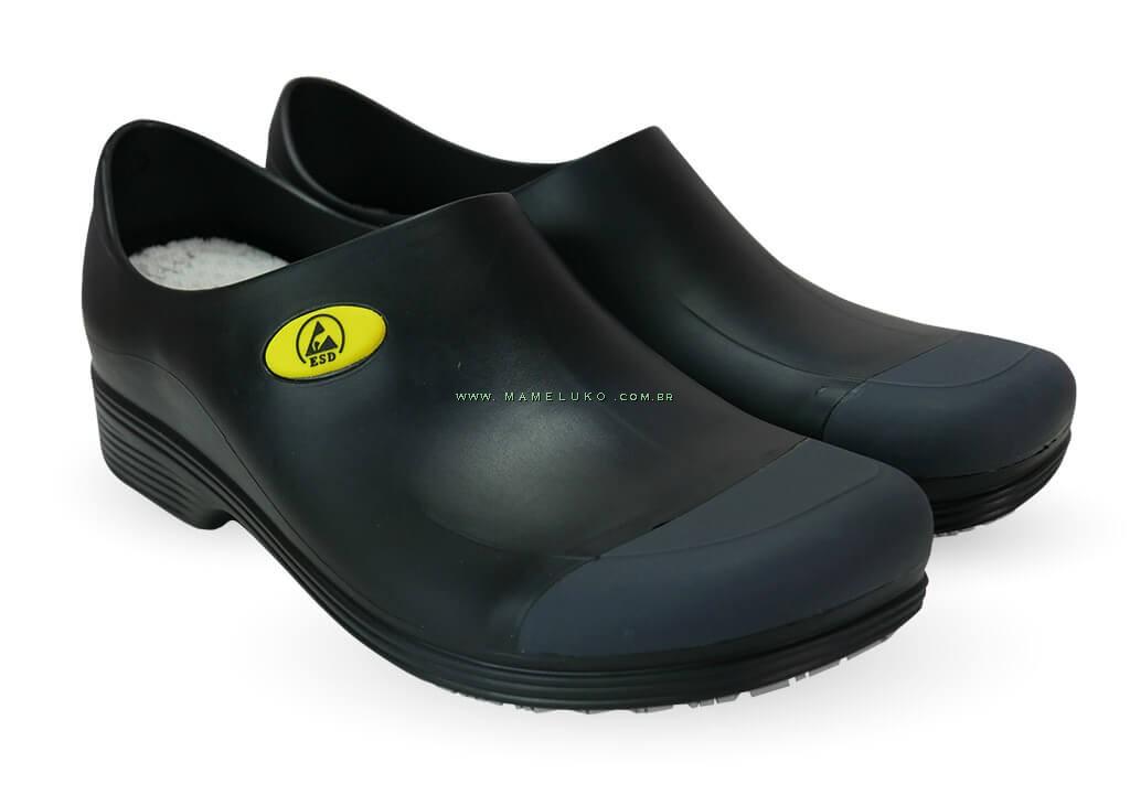 9746b92294 ... Sticky Shoe Man Antiestático ESD - COM BICO - Preto ...