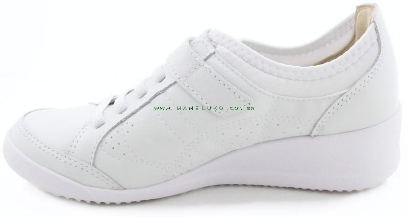 cbe72840b00 ... Tênis Kolosh C0343 Anabela com Velcro - Branco ...
