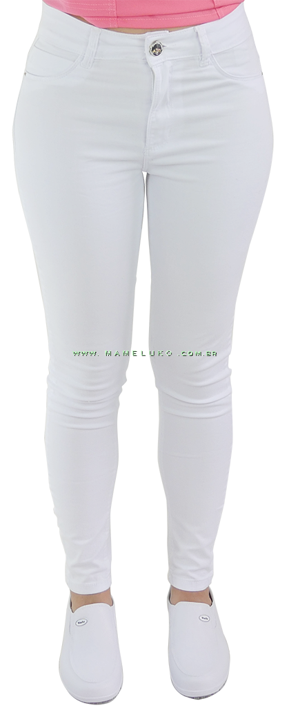 742bb7842f Calça Jeans Feminina Sawary Skinny - Branca por R 99