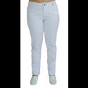 Calça Feminina em Sarja de Algodão/ Elastano - Branco