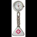 Relógio de Jaleco Metal - Branco