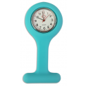 Relógio de Jaleco Silicone - Verde Tiffany