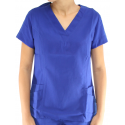 Scrubs Blusa Decote V Manga Curta - Azul Royal - Do número 38 ao 52