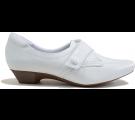 Sapato Neftali Salto Baixo 3608 - Branco