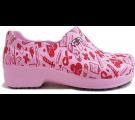 Sapato Profissional Soft Works II Estampado Rosa - Ícones Hospital