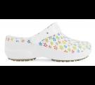 Babuche Profissional Soft Works Estampado Flores - Branco