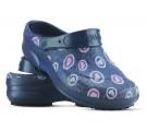 Babuche Profissional Soft Works Estampado - Corações Rosas - Azul Marinho