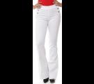Calça Jeans Feminina Sawary Flare Hot Pants com Botões Laterais - Branca