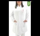 Jaleco Feminino Microfibra Gola Padre *PLUS SIZE* - Branco