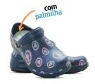 Babuche Profissional Soft Works Estampado Com Palmilha - Corações Rosas - Azul Marinho