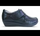 Sapato em Couro Salto Anabela REF 084 - Preto