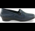 Sapato Feminino em Couro 1006 - Azul Marinho