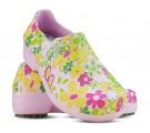 Sapato Profissional Soft Works II Estampado Flor Verde - Rosa