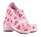 Sapato Profissional Soft Works II Estampado Rosa - Eletro Coração