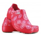 Sapato Profissional Soft Works II Estampado Vermelho - Corações Rosas
