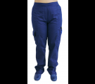 Scrubs Calça Feminina 7 Bolsos - Azul