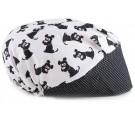 Touca Elástica Profissional Dog - Branca com Aba Poá Preto