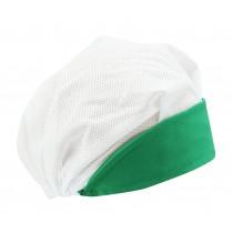 Touca Profissional de Aba Verde e Tela Branca