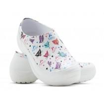 Sapato Kemo Profissional 5 Estampado - Branco Gatinha