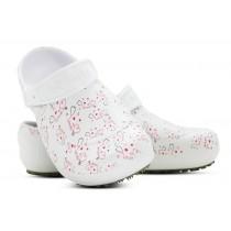 Babuche Profissional Soft Works Estampado Branco - Esteto Love