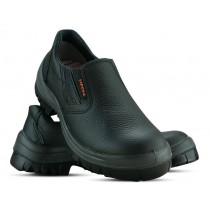 Sapato Com Elástico Com Biqueira - Preto