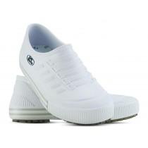 Tênis Profissional Antiderrapante Soft Works - Branco com faixa branca