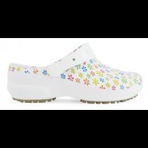 Babuche Profissional Soft Works Estampado - Branco com Flores