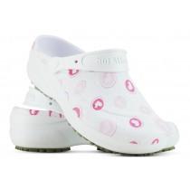 Babuche Profissional Soft Works Estampado - Corações Rosas - Branco