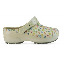 Babuche Profissional Soft Works Estampado Flores - Bege
