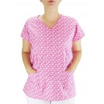 Blusa Scrubs Hospitalar Estampa Pet Patinhas - Pink