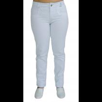 Calça Feminina em Sarja de Algodão Elastano - Branco