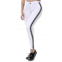 Calça Jeans Feminina Sawary Cigarrete Love - Branca