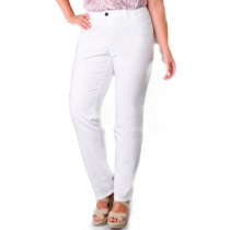 Calça Feminina Sarja Plus Size Com Strech - Branca