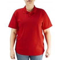 Camiseta Polo Unissex - Vermelho