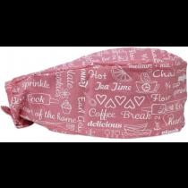 Bandana Profissional Coffee e Cupcake - Rosa