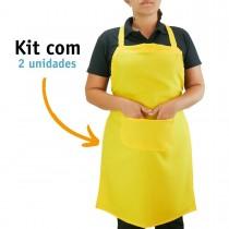 Kit 02 Avental Profissional Poliéster - Amarelo