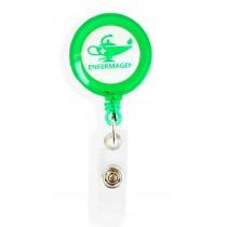 Porta Crachá Retrátil Enfermagem - Verde Translucido