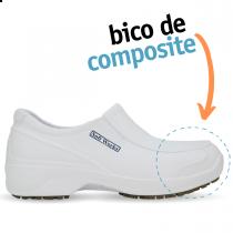 Sapato de Segurança com BICO DE COMPOSITE - Branco