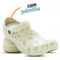 Babuche Profissional Soft Works Estampado Com Palmilha - Área da Saúde - Bege